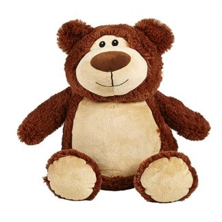 personalised embroidery cubbie teddy bear baby kids keepsake toy fluffy soft brown bear
