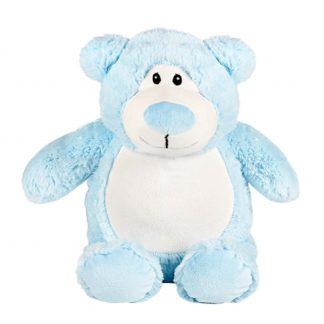 personalised embroidery cubbie teddy bear baby kids keepsake toy fluffy soft boy blue bear