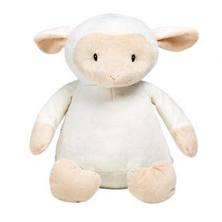 personalised embroidery cubbie teddy bear baby kids keepsake toy white farm lamb sheep