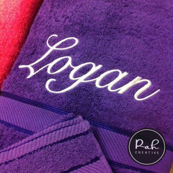 Personalised Embroidered Bath Towels Rah Creative