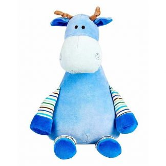 personalised embroidery cubbie teddy bear baby kids keepsake toy blue stripy giraffe