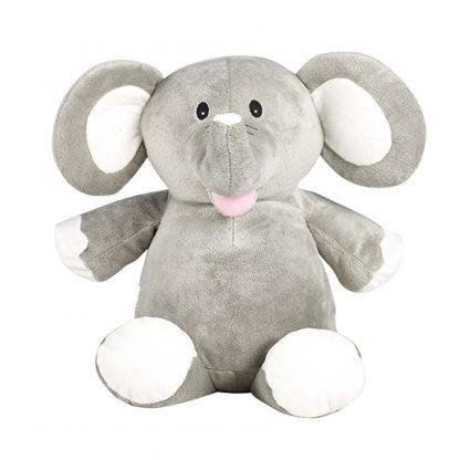 personalised embroidery cubbie teddy bear baby kids keepsake toy grey elephant