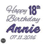 18th Birthday design