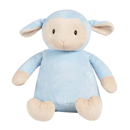 personalised embroidery cubbie teddy blue lamb