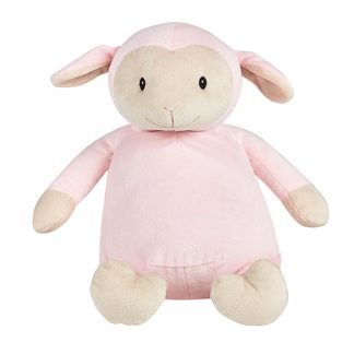 personalised embroidery cubbie teddy bear pink lamb