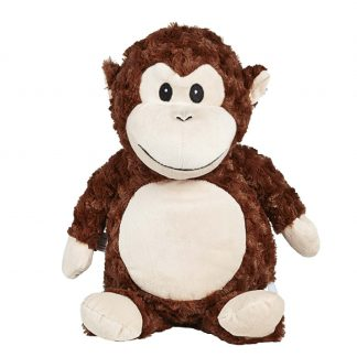 personalised embroidery cubbie teddy bear baby kids keepsake toy brown fluffy monkey
