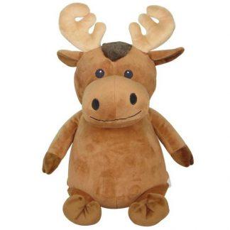 personalised embroidery cubbie teddy bear baby kids keepsake toy brown moose antlers