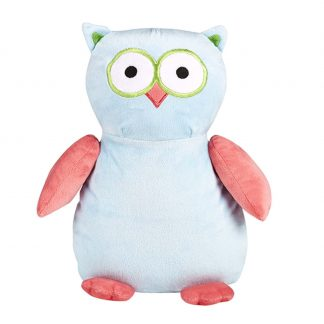 personalised embroidery cubbie teddy bear baby kids keepsake toy blue and pink owl