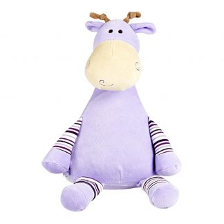 personalised embroidery cubbie teddy bear baby toy purple giraffe