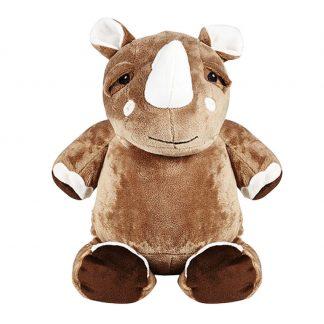 personalised embroidery cubbie teddy bear baby kids keepsake toy rhino rhinocerous