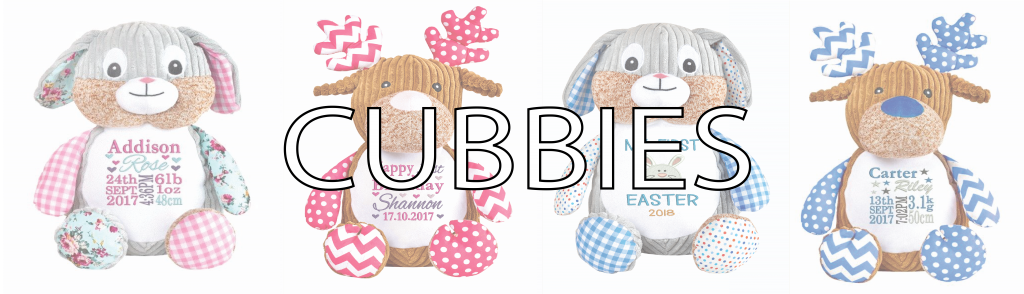 Shop now for personalised cubbies teddies