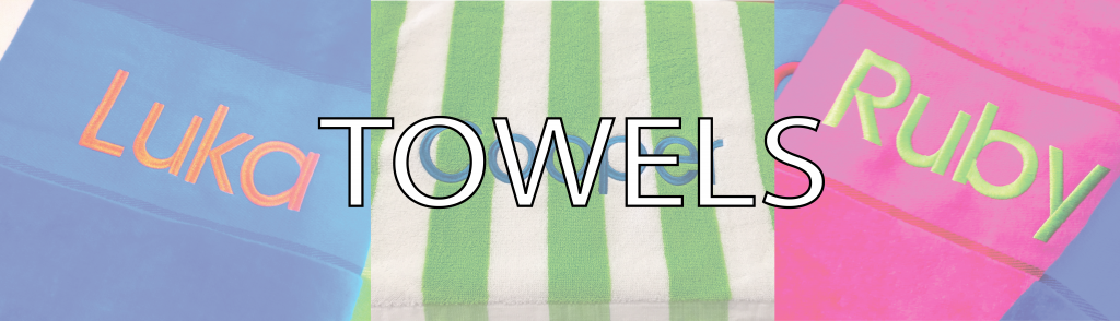 Shop now for embroidered towels